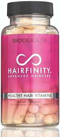 Hairfinity Hair Vitamins - Scientifically Formulated with Biotin, Amino Acids, and a Vitamin Supplement that Helps Support Hair Growth - Vegan - 60 Veggie Capsules (1 Month Supply)