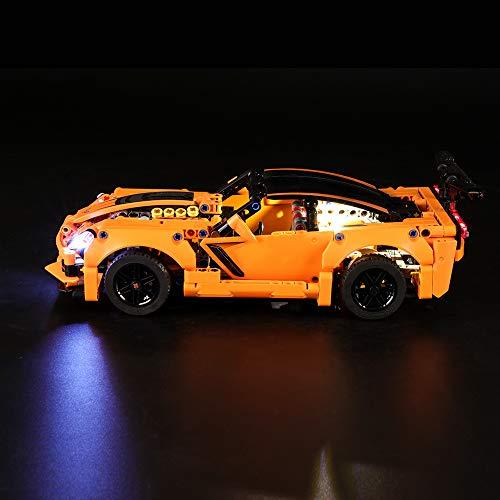 LIGHTAILING Light Set for (Technic Chevrolet Corvette ZR1) Building Blocks Model - Led Light kit Compatible with Lego 42093(NOT Included The Model)