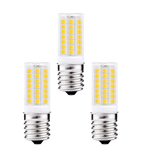 Jcase 5w e17 led bulbs 40 watt incandescent bulb replacement 400lm daylight white 6000k led light bulbs for use in ceiling fan microwave oven pack of