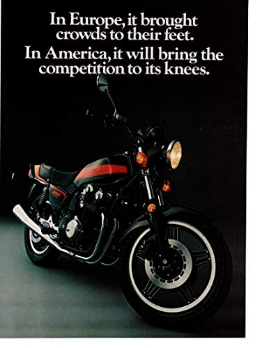 """Magazine Print Ad: 1981 Honda CB900F Motorcycle, 902 cc DOHC 4 cylinder,""""In America, It Will Bring the Competition to Their Knees.Follow the Leader"""""""