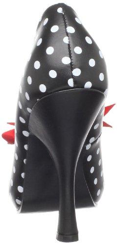 Pleaser Pinup Couture Cutiepie-06 Kvinders Pumps Sort / Hvid dQT9sf8th