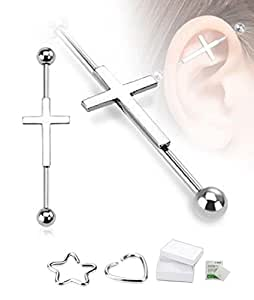 "Cross Industrial Barbell 14G 1 1/2"" Length"
