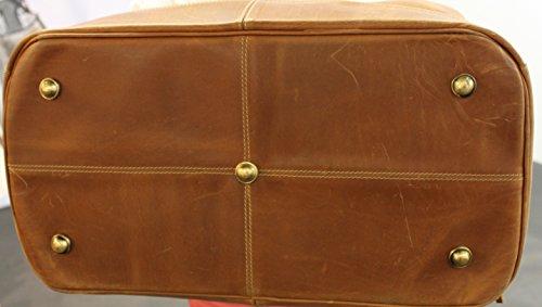 Borsa da viaggio 55cm–Arizona Tan//Weekender-Alpi pelle di bufalo pelle cognac