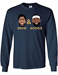 """LONG SLEEVE Navy New Orleans """"Brow & Boogie PIC"""" T-Shirt"""