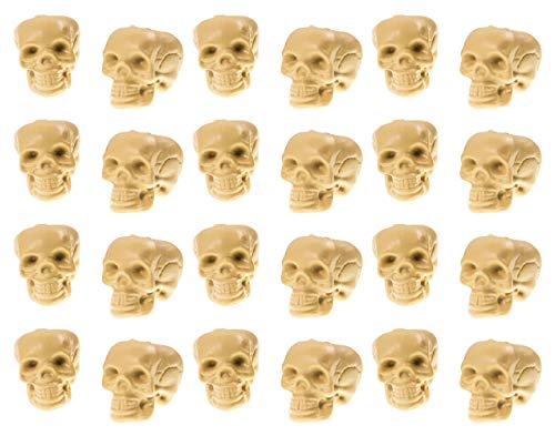 Plastic Skull Heads - 24 Piece 2