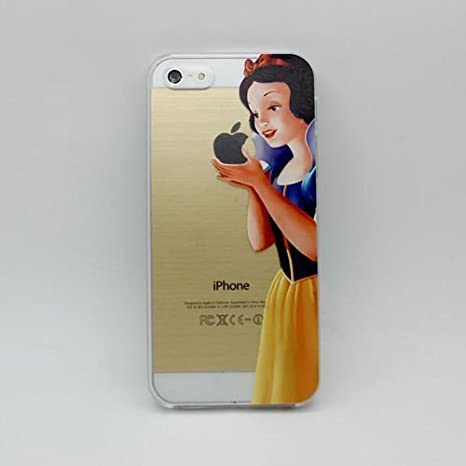 super popular 679d9 4787e Disney Princess Eating Holding Apple Logo Iphone Case Snow White Clear  Transparent Case For Apple iPhone 5 5S (Snow White)