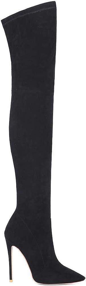 Gracemee Mujer Moda Botas Overknee Tacones de Aguja 13 Negro DOlwA