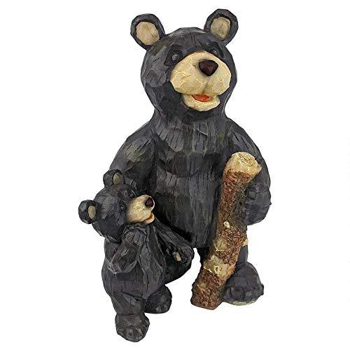 Design Toscano Black Forest Bear Pair Sculpture (Wooden Garden Statues)
