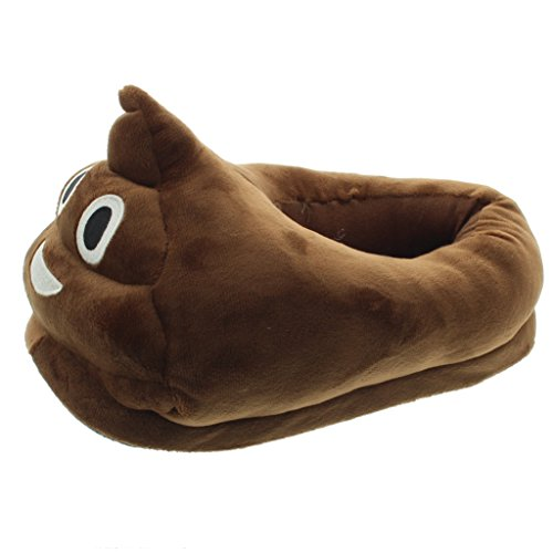 Jfh Funny Emoji Zapatos Zapatillas De Invierno Unisex Para Adultos Zapatillas Antideslizantes House Smiley Poop