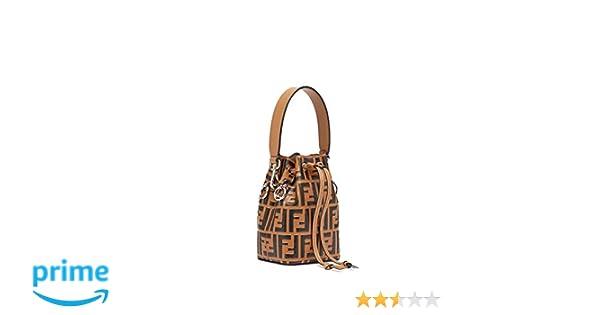 4d05e5073790 kimi-Fendi small Mon Tresor Leather fashion Shoulder Bag for women in new  (brown)  Handbags  Amazon.com