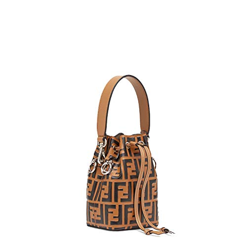 kimi-Fendi small Mon Tresor Leather fashion Shoulder Bag for women in new (brown)