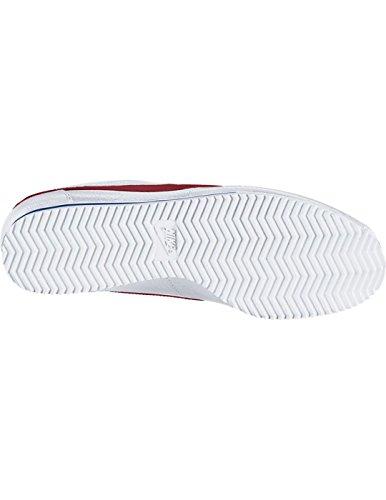 Nike Damen Classic Cortez Leather Laufschuhe, Blanco (Blanco (White/Varsity Red-Varsity Royal)), 35.5 EU