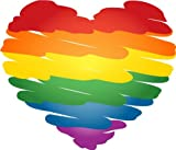 "valstick Color Heart Gay Pride Bumper Sticker Decal 5""x 4"""