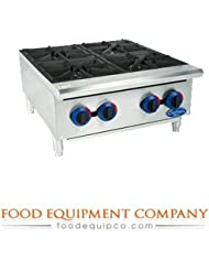 Globe C24HT Chefmate Countertop Hot Plate Natural Gas 4 Burner 24 W