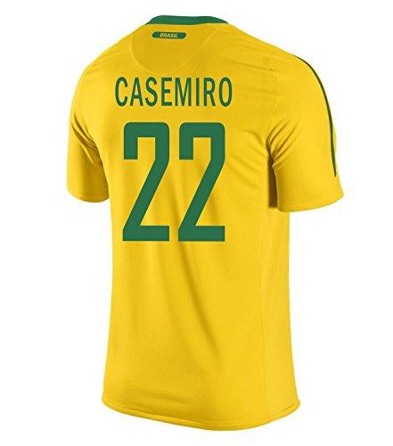 香ばしい法王アーサーNIKE Casemiro #22 Brazil Home Men Jersey/サッカーユニフォーム ブラジル ホーム用 カゼミーロ 背番号22