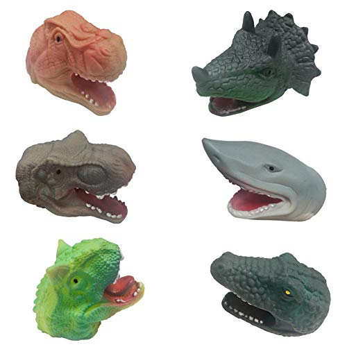 - Allgreen Finger Doll Dinosaur Shark Crocodile Hand Puppet Toy Animal Shape Cute Dolls, for Kids, Shows, Playtime, Schools