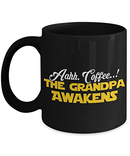 FFEE MUG ~ The amazing grandpa mugs for some one soon to be / promoted to Grandfather - Birthday gifts for Grandpa from grandson/granddaughter/grand kid 11 oz Black tea cup (Syracuse Dishwasher Safe Mug)