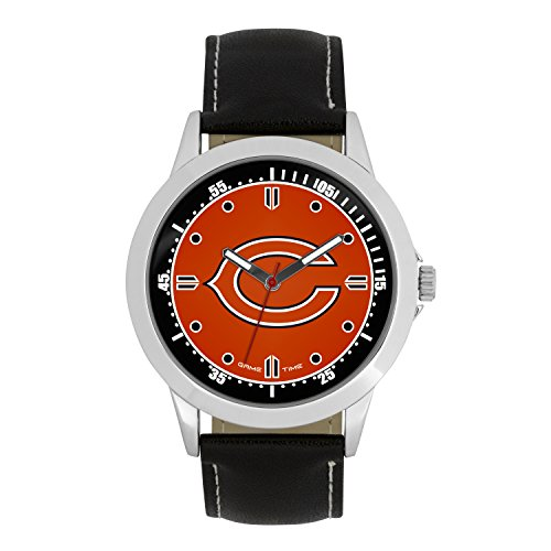 Chicago Bears Fan Series Watch - NFL Chicago Bears Mens Player Series Wrist Watch, Silver, One Size