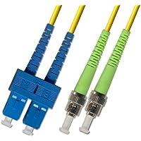 3M - Singlemode Duplex Fiber Optic Cable (9/125) - SC/UPC to ST/APC
