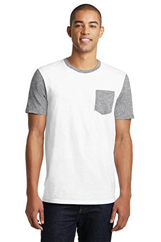 District DT6000SP Mens Very Important Tee With Contrast Sleeves and Pocket