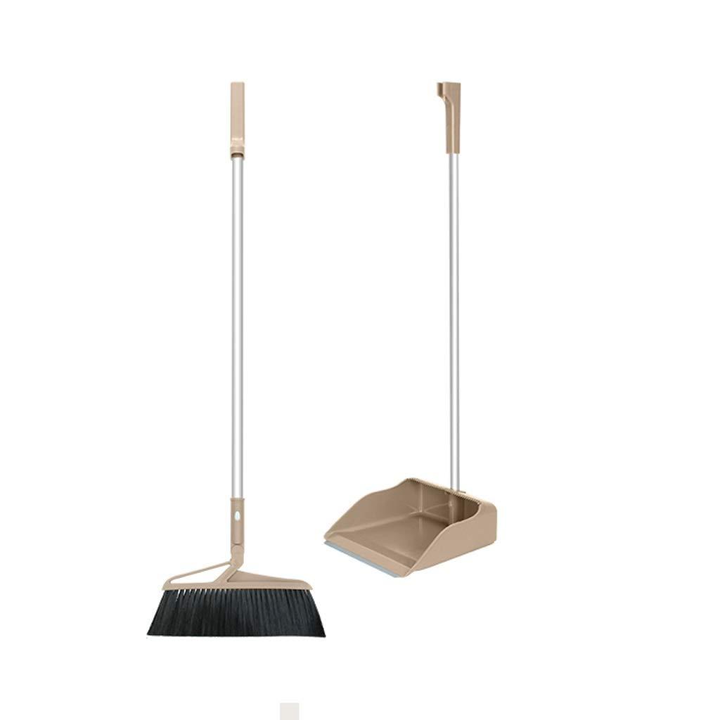 Lsxlsd Brooms And Dustpan Long Handle Broom And Dustpan Indoor Rubber Broom And Dustpan (Color : Gray) by Lsxlsd