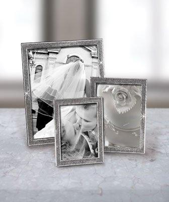 New! Pretty Glitter Galore Glitter Galore Photo Frame 4x6 (Single Acrylic Silver Glitter)