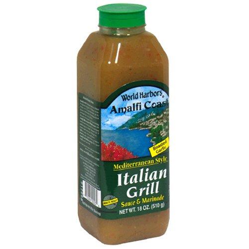 World Harbors Italian Grill Sauce, 18-Ounce Bottles (Pack of 6) by World Harbor