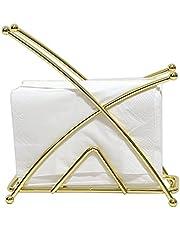 YIVIVEN Gold Napkin Holder for Kitchen, Napkin Holder for Tables, Paper Tissue Holder, Steel Napkin Dispenser