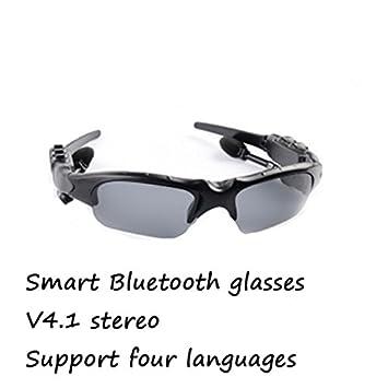 Deportes inalámbrico Bluetooth gafas de sol auriculares estéreo 4.1 Smart identificador de llamadas Bluetooth gafas apoyo