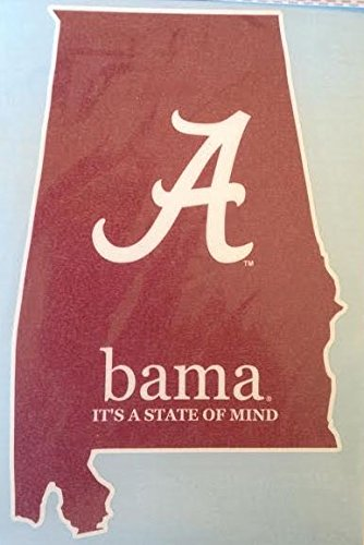 Bama It's a State of Mind Car Decal - Alabama Crimson Tide Auto Window Sticker