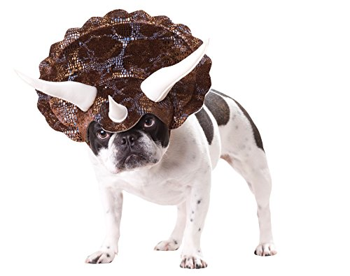 UHC Animal Planet Triceratops Dog Puppy Outfit Fancy Dress Halloween Pet Costume, (Triceratops Dog)