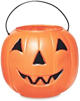 GENERAL FOAM PLASTICS H1020TS Jack Pumpkin Pail Figurine, 10-Inch, Orange