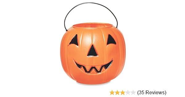 General Foam Plastics H1020ts Jack Pumpkin Pail Figurine 10 Inch Orange