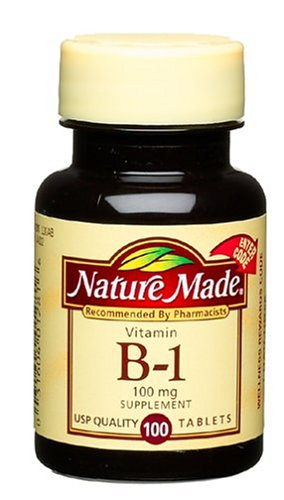 Nature Made Vitamine B1, 100mg, 100 Tablets (Pack de 6)