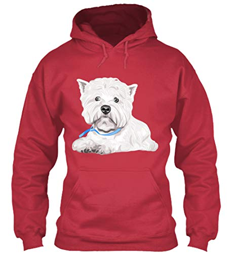 (Westie Store XL - Cardinal red Sweatshirt - Gildan 8oz Heavy Blend Hoodie)