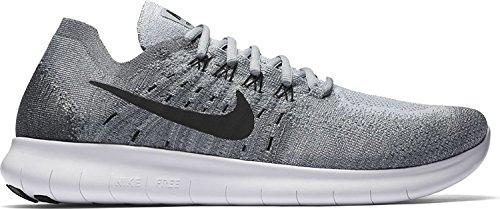 Nike Mens Free RN Flyknit 2017 Running Shoe, Wolf Grey/Black-anthracite-cool Grey, 41 D(M) EU/7 D(M) UK
