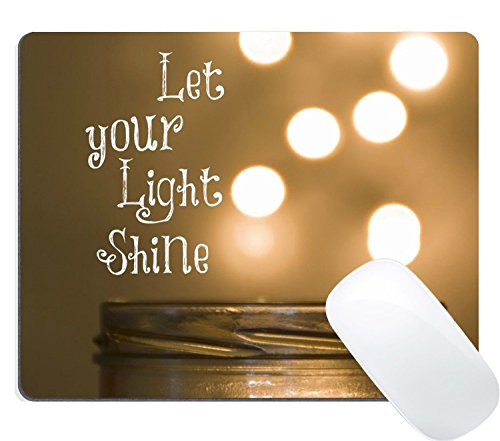 Wknoon Gaming Mouse Pad Custom Design Mat, Bible Verse Inspirational Quote Let Your Light Shine Mouse Pads