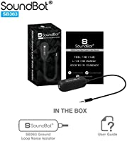 SoundBot SB363 3 5mm Ground Loop Noise Isolator Adapter Remover[Buzzing  Eliminator Hissing Filter] Speaker/Car Audio Stereo System/Bluetooth  Adapter
