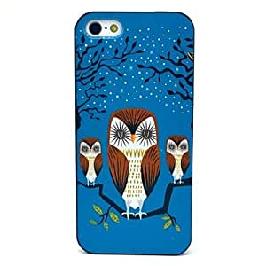 GONGXI Cute Owl and Babies Pattern Hard Case for iPhone 5/5S