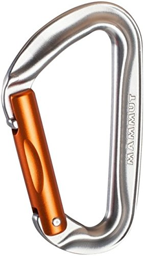 Mammut Wall Key Lock Carabiner Silver, Straight Gate (Key Lock Straight Gate)