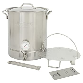Image of Bayou Classic 800-416 16 Gallon Stainless Steel 6 Piece Brew Kettle
