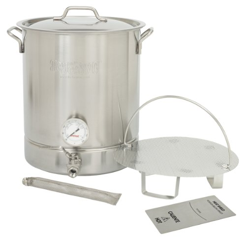 Bayou Classic 800-410, Stainless Steel 6 pc. Brew Kettle – 10 gal.