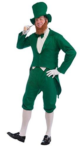 Forum Novelties Men's Adult Leprechaun Costume, Green/White, One Size