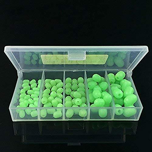 - 100pcs Oval Soft Luminous Fishing Beads Sea Fishing Lure Floating Float Tackles Floating Tools Fishing Eggs