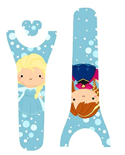 Vinyl Skin Decal Wrap Sticker Cover for The MagicBand 2 | Magic Band 2.0 Ice Princess Sisters