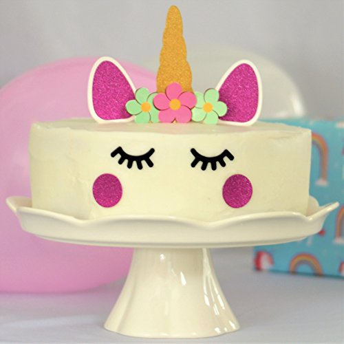Amazon Premium Sparkle Unicorn Cake Topper Decorating Set Perfect For DIY Girls Themed Birthday Decorative