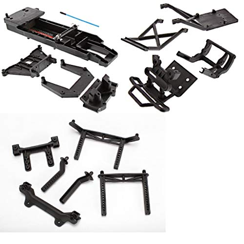 (TRAXXAS BIGFOOT CHASSIS BLACK 3622 AND BODY MOUNTS TOWERS ALSO FITS THE SKULLY, CRANIAC, AND 2WD)