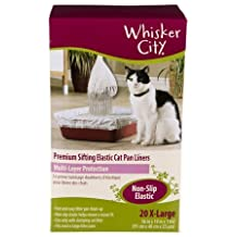 Whisker City Extra Large Cat Sifting Litter Box Liners, 20 Count