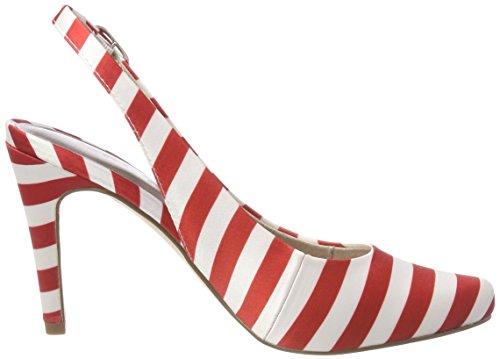 Sandals Sling Women's 29614 Red Stripes Back chili 692 Tamaris qIfax
