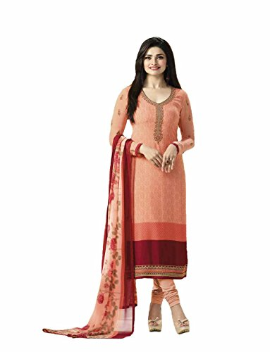 Delisa Ready Made New Designer Indian/Pakistani Fashion Salwar Kameez For Women (Orange, MEDIUM-40) by Delisa
